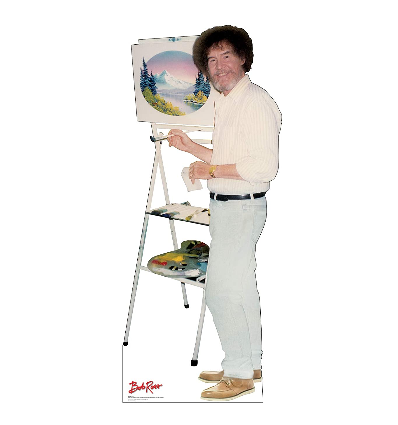 Advanced Graphics Bob Ross Life Size Cardboard Cutout Standup with Motion Activated Voice Box