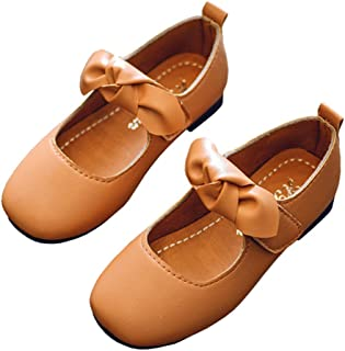9189868ed6ea LINKEY Toddler Girl Mary Jane Church Shoe Princess Dress Shoes Ballet Flat  with Bowknot