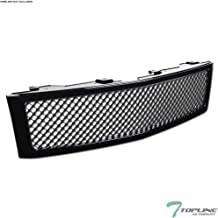 Topline Autopart Black Mesh Front Hood Bumper Grill Grille ABS For 07-13 Chevy Silverado 1500