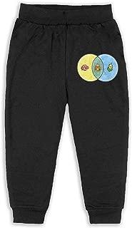 Candy Corn Venn Diagram Sweatpants for Boys Black