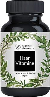 Haar Vitamine - 180 Kapseln - Premium: Hochdosiert mit Keratin, Biotin, Selen, Zink, Hirseextrakt, bioaktiven B-Vitaminen ...