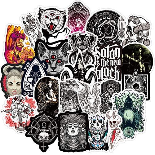 BLOUR 50 Uds gótico Horror Diablo Bruja Graffiti Pegatinas DIY Coche monopatín Guitarra Maleta portátil Cool calcomanía Pegatina Chico Juguete