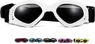 Vevins Dog Goggles Sunglasses UV Protective Foldable Pet Sunglasses Adjustable Waterproof Eyewear for Cat Dog