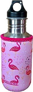 Koverz Neoprene 16-18 oz 500ml Water Bottle Insulator Cooler Coolie - Pink Flamingos