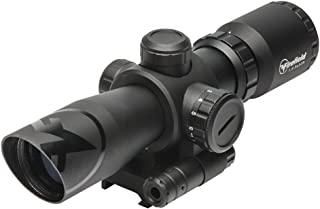 Firefield Barrage 1.5-5X32 Waterproof Riflescope with Red Laser Multi-Coated Scratch Resistant/Anti Reflective Glass and Illuminated red and Green Mil-Dot Reticle