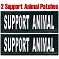 "Service Dog ""Support Animal"" Reflective Velcro Patch for DogStylze And Dean & Tyler Vests"