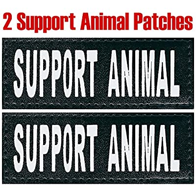 """Service Dog """"Support Animal"""" Reflective Velcro Patch for DogStylze And Dean & Tyler Vests"""