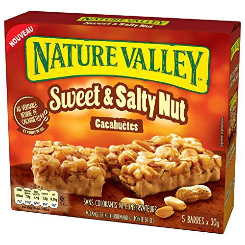 Nature Valley Sweet Salty Beurre Cacahuetes 5 x 30 g - Pack de 5 (25 barres)