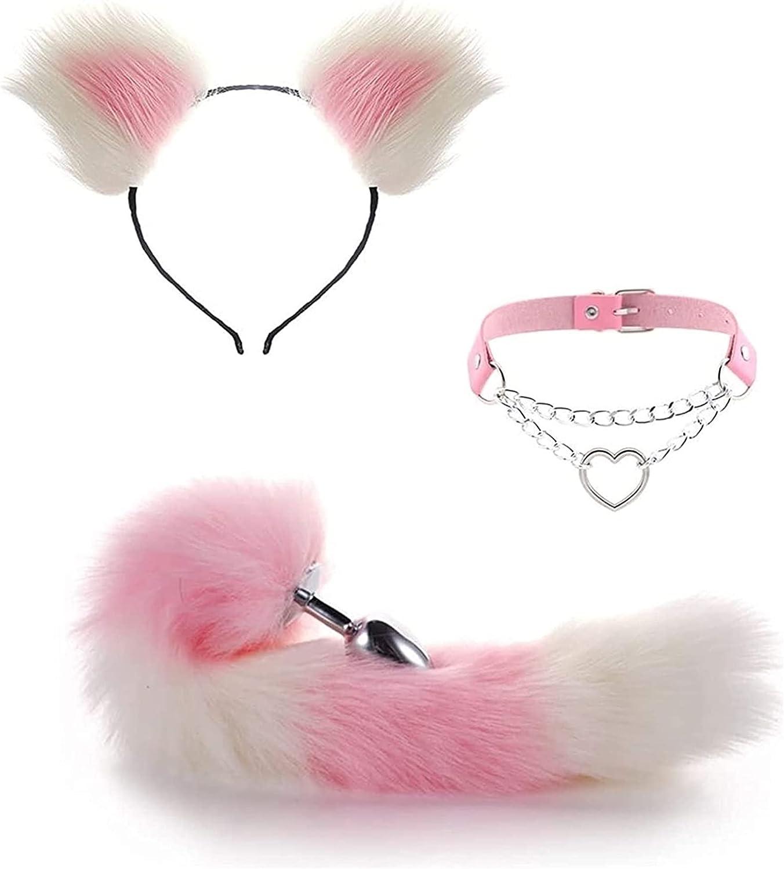 3Pcs Set Cosplay Fox Tail Sale special price Ear sale Pl'ụg Band E Bû-Å¥t Kit Hair