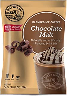 Big Train Blended Ice Coffee, Chocolate Malt, 3.5 Pound, Powdered Instant Coffee Drink Mix, Serve Hot or Cold, Makes Blended Frappe Drinks