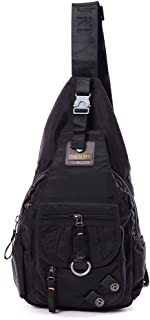DDDH Sling Bags Shoulder Backpack Chest Pack Military Crossbody Bags For Man Women(Black)