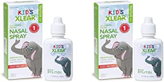 XLEAR Kid's Nasal Spray (Pack of 2) with Xylitol, Saline, Purified Water and Grapefruit Seed Extract, to Moisturize and So...