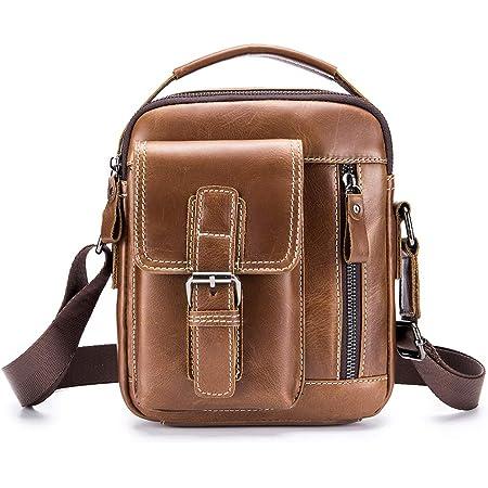 Vintage Echt Leder Tasche Schultertasche Hüfttasche Herren Umhängetasche Reise