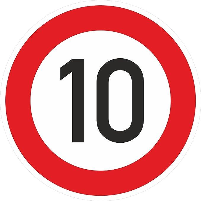 Zulässige Höchstgeschwindigkeit 10 Km H Schild 40 Cm Reflektierend Norm Ra1 Stvo Zeichen 274 51 Baumarkt