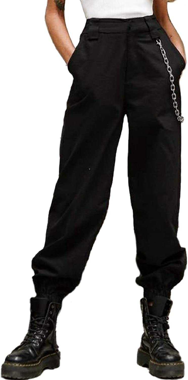 4 years warranty Women's High Waist Hip Hop Pants Tapered Stylish Cargo Jog Chain Mesa Mall