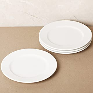White Side Plate 23 CM - 4 Pcs