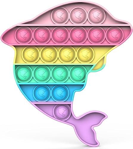 Bdwing Push and Pop Bubble Sensory Fidget Toy, Jouets Sensoriels à Presser, Silicone Anti-Stress Jouets de Soulagemen...