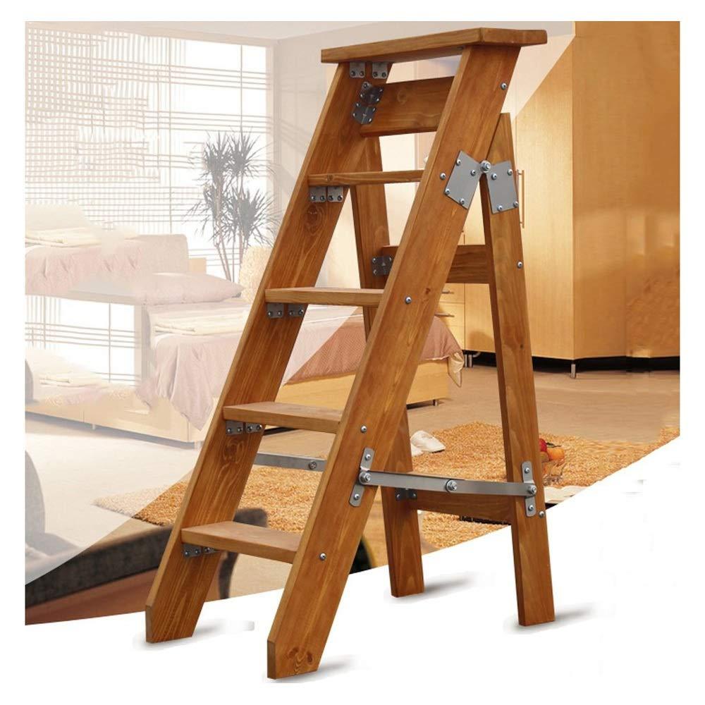 ZHANG HUA-Step stool Z-H Madera hogar Taburete portátil Escalera Plegable multipropósito Escalera Palabra Engrosada (Color : B): Amazon.es: Hogar