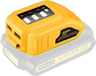 Sponsored Ad – DCB090 USB Adapter for All Dewalt 10.8V/14.4V/18V Lithium Ion Battery Packs YEX-BUR Cordless USB Charger Po...