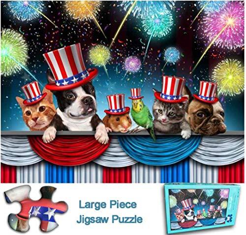 WUPYE Puzzle per Adulti 300 Pezzi, Puzzle di Grandi Dimensioni, Puzzle di Simpatici Animali Domestici per Bambini