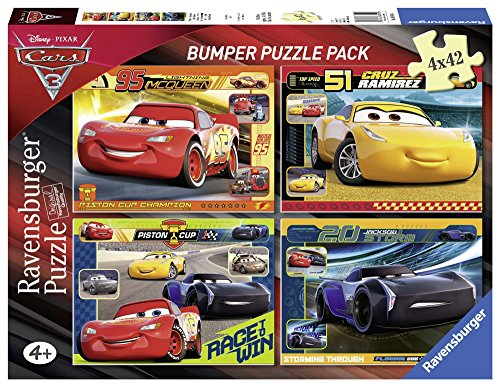 Ravensburger The Movie Puzzle 4 x 42 Piezas Bumper Pack, Cars 3 (6890)