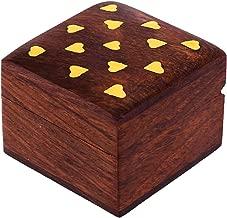 Hashcart Handmade Wooden Jewelry Box - Designer Box for Women/Girls (2x2 inch)