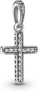 Jewelry - Sparkling Cross Pendant in Sterling Silver with Clear Cubic Zirconia