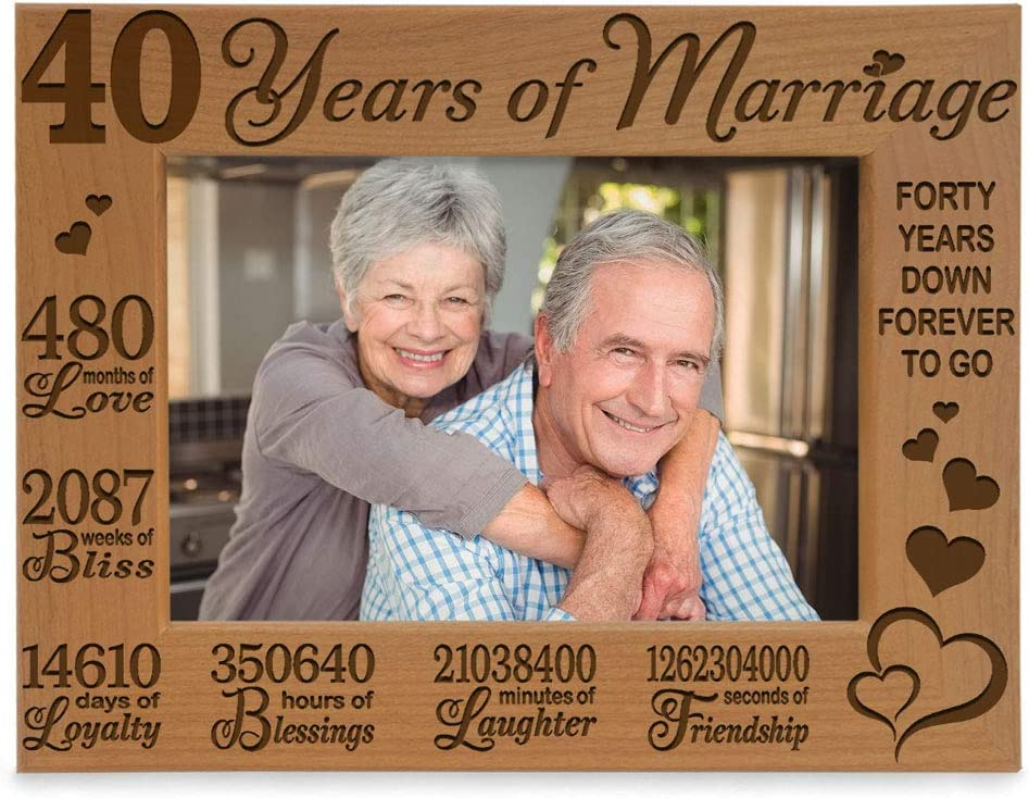 KATE POSH 40 Years Ranking TOP7 of Marriage Picture Fra Wood Natural Engraved OFFicial