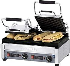 Grill professionnel double à panini - 445 x 242 mm - Casselin