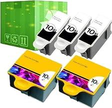 J2INK 5 Pack 10 XL Ink Cartridges for Kodak ESP 5210 7250 3250 5250 9 5 7 9250 Printer
