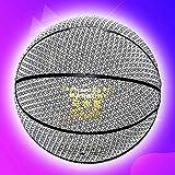 YZPXDD Holographiques Glowing réfléchissant de Basket-Ball, Basket-Ball Clignotant Lumineux NO.7 for Sports Night, Light Up Flash Caméra Phosphorescent, for Le Basket-Ball Adulte, réfléchissant Noir