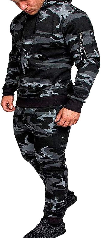 Doanpa Men's Open Front Workout Activewear Set Top&Pants