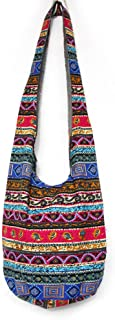 Bohemian Cotton Hippie Crossbody Bag Hobo Sling Bag Handmade Messenger Shoulder Bags