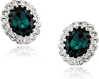 2c5ddfc8b Signore-Signori®®®® Émeraude Bijoux Ovale Fait avec autrichien Swarovski  Elements,