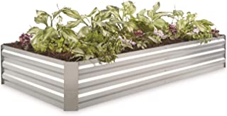 CASTLECREEK Large Galvanized Steel Planter Box