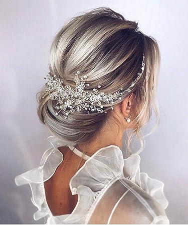 Wedding Hair Accessories Pearl Crystal Wedding Hair Comb Rose Gold Bridal Hair Comb Bridal Headpiece Rose Gold Hair Comb Bridal Hair Piece