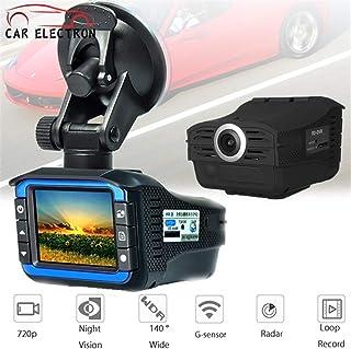 2 en 1 detector de radar para automóvil Dash Cam Car DVR Grabador de cámara 140