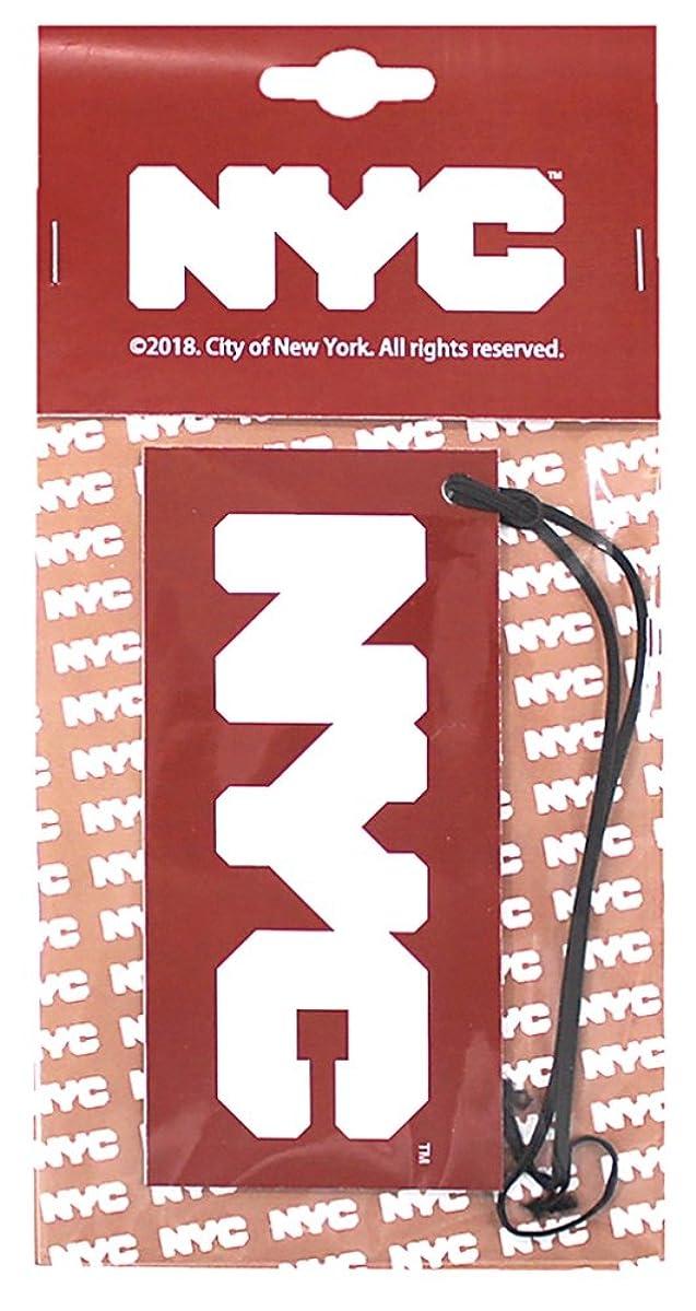 司教懐疑的色合いNYC エアーフレッシュナー 吊り下げ ロゴ ホワイトムスクの香り OA-NYC-1-1