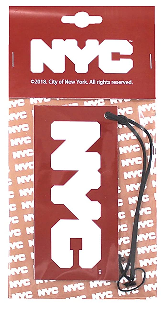 ご意見パン船員NYC エアーフレッシュナー 吊り下げ ロゴ ホワイトムスクの香り OA-NYC-1-1