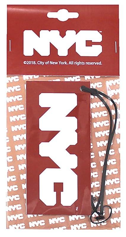 手術顔料没頭するNYC エアーフレッシュナー 吊り下げ ロゴ ホワイトムスクの香り OA-NYC-1-1