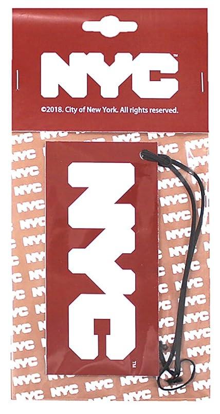 意見華氏極地NYC エアーフレッシュナー 吊り下げ ロゴ ホワイトムスクの香り OA-NYC-1-1