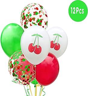NW 1776 Summer Fruit Set Balloon, Party Decoration Balloon Set, Confetti Balloon, 12 Inch Latex Balloon (Cherry Set)…