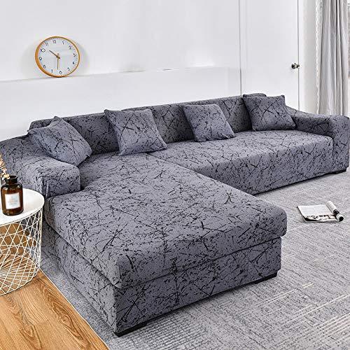 YANJHJY 1 Funda para sofá de Esquina, para Sala de Estar, Fundas elásticas, Funda de sofá, Toalla elástica para sofá, Chaise Longue en Forma de L, Color 9,3 plazas y 3 plazas