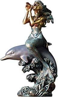 Collectibles Decorative Accessories Home Accessories Dolphin Mermaid Family Sculpture Artwork Model House Art Living Room Bedroom Porch Coffee Table Decoration Carving