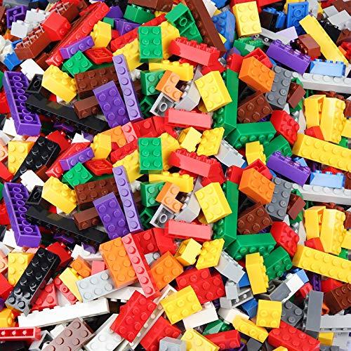shenlanyu Niños Bloques de Construcción 1700 unids Niños Clásicos Bloques de Construcción Figura de Arma Ciudad Ladrillo Juguetes Creativos Para Niños Construcción Bloque Base Placa 900pcs