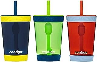 Contigo Kids 3 Pack Tumblers - Pink/Purple/Aqua (Blue Green Red)