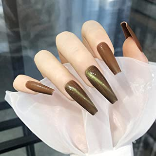 Faux ongles False Nails Gourd Golden Cat's Eye Wear Autocollants pour ongles Autocollants pour ongles finis 24 Autocollant...