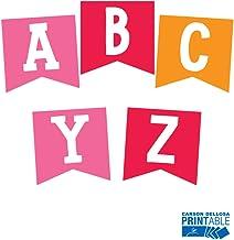 Schoolgirl Style   Hello Sunshine Alphabet Letter Pennants   Printable