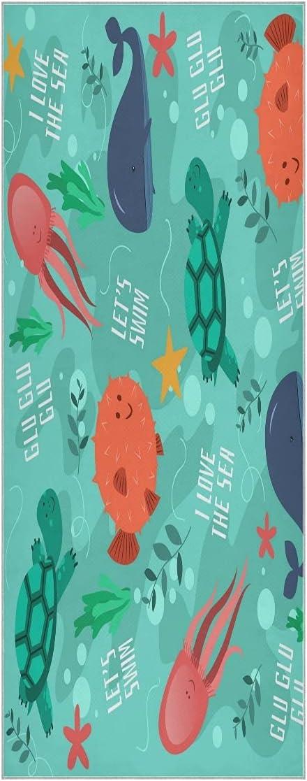 FVFV Green Art Sea Great interest Animal Yoga Popular brand Towel Slip Soft Mat Super Odo Non