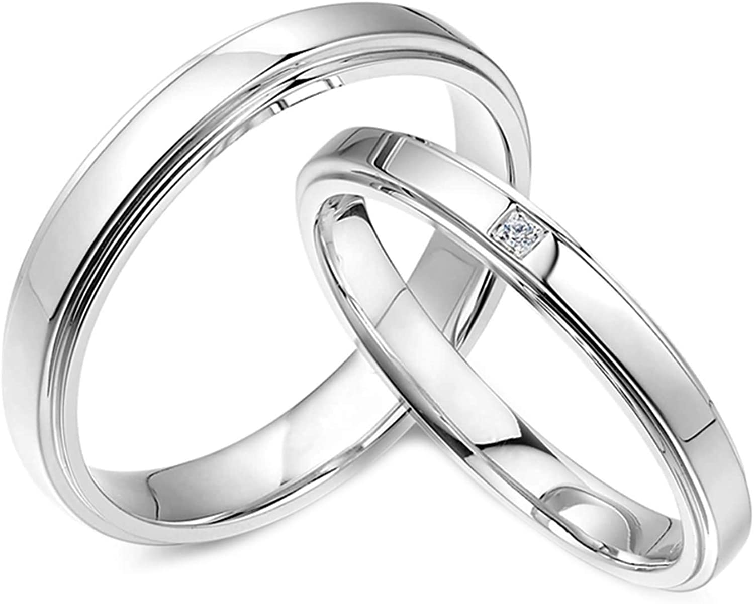 Direct store Daesar Platinum Rings for Men Engraved Couple Si and Women Max 46% OFF